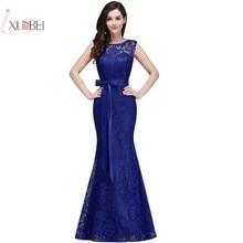 2019 Mermaid Lace Long Prom Dresses Sleeveless Gown vestido de gala New