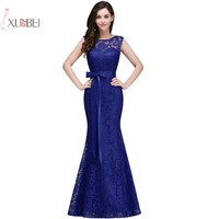 2019 Mermaid Lace Long Prom Dresses Sleeveless Prom Gown vestido de gala New
