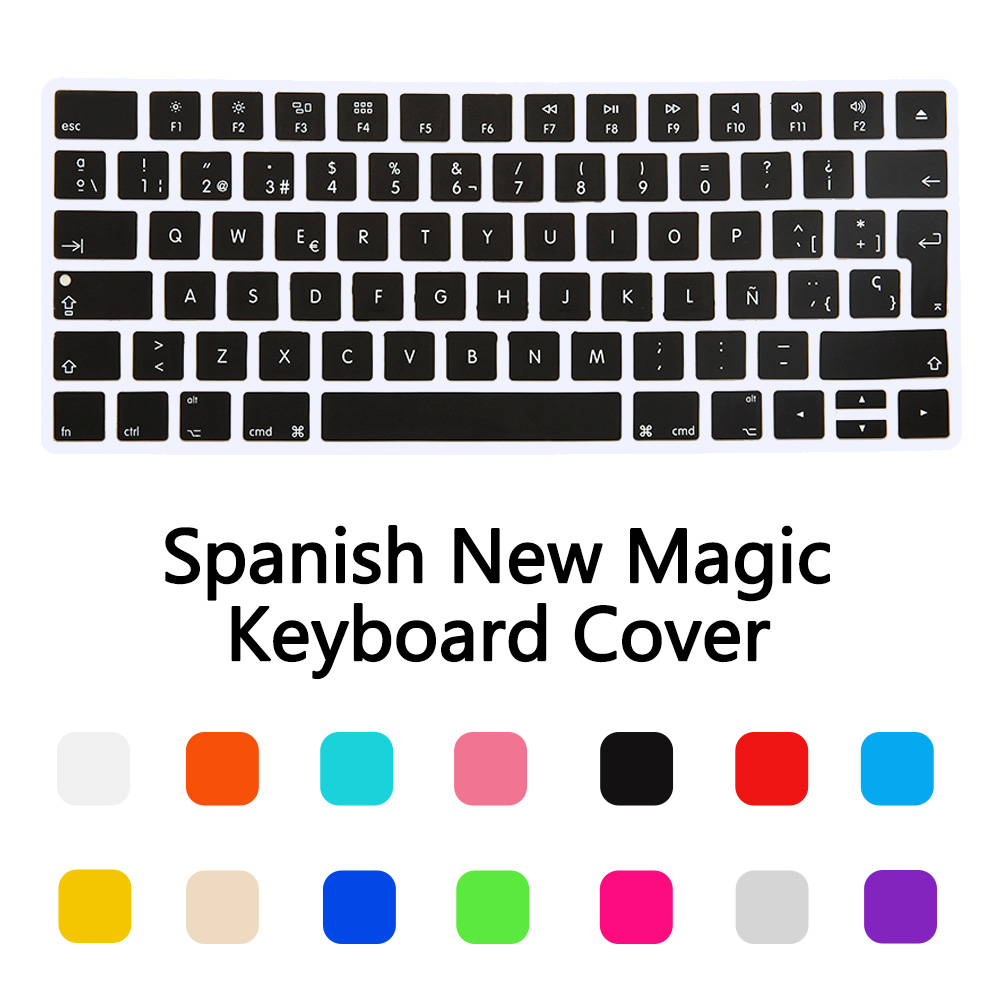spain spanish version wireless keyboard silicone keyboard cover protector skin for apple new. Black Bedroom Furniture Sets. Home Design Ideas