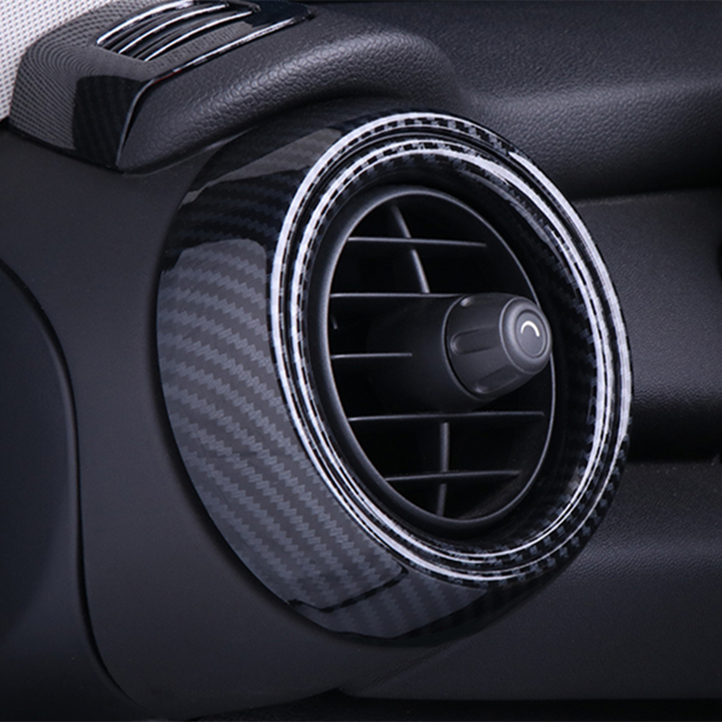 Air Vent Ring Outlet Cover Housing Carbon Fiber Style Case Interior Decorative Dashboard For Mini Cooper F55 F56 F57 Accessories