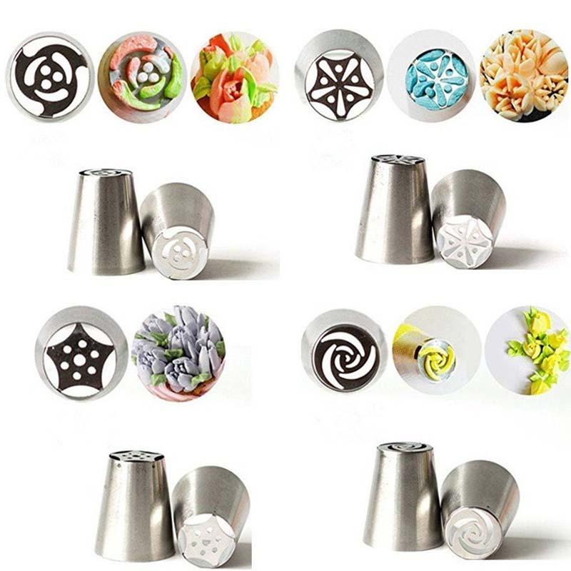 3 PCS DIY Petal Cream Nozzle Icing Piping Nozzles Tips Pastry Decorating Tips ZF
