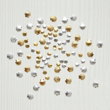 Nail Conch 3D Art 100pc Silver&Gold 2Size (3mm,5mm) Alloy Glitter Manicure For Decals Charm Decorations CJ(mix)