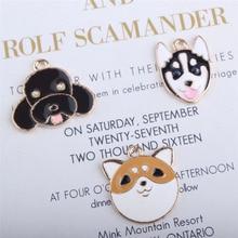 10pcs/lot Animals Dogs Charms Pendants Jewelry Making DIY Charm Handmade Crafts lovely dog YZ283