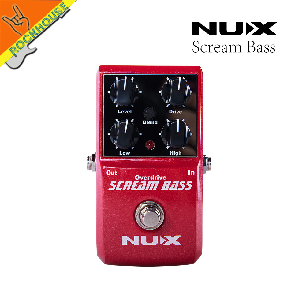 NUX Analog Bass Overdrive effects pedal Bass Fuzz stompbox large adjustable range from overdrive to Fuzz