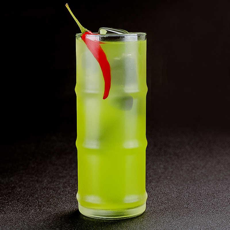 Darmowa wysyłka 475ml kształt bambusa szklane okulary Collins soku