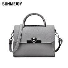 SUNMEJOY Neue Mini Luxus Vintage Casual Leder Handtaschen Hochwertige Metall Lock Beutel Frauen Umhängetasche Einfache Tasche D3