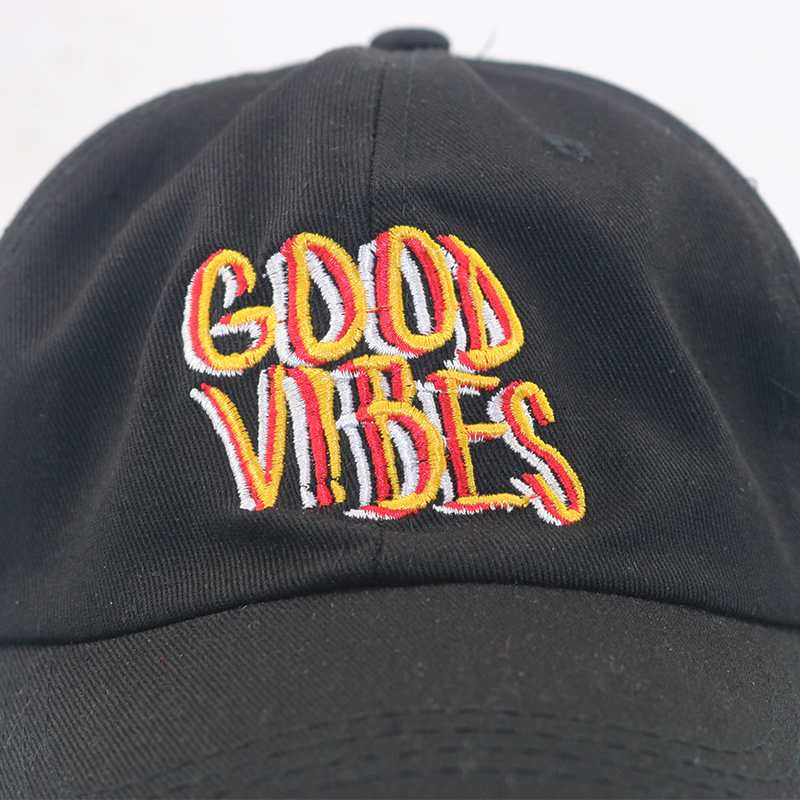 c91bc507f1bd94 New Good Vibes cap unisex fashion baseball cap Embroidered Baseball hats  Curved Cot Casquette Brand caps Bone Dad Hat