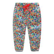 Jumping Meters Baby clothes sweatpants Kids Girls flowers Full Pants For Spring Autumn Infant Children Drawstring Sweatpants