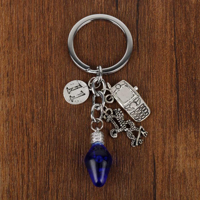 MQCHUN Stranger Những Điều Keychain Cây Giáng Sinh Đèn Mặt Dây Chuyền Người Giữ Chìa Khóa cho Người Hâm Mộ Bộ Phim Quà Lưu Niệm Phụ Nữ Người Đàn Ông Jewelry-50