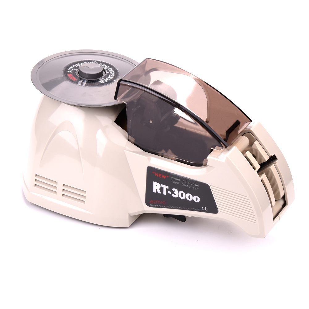 все цены на  Electric RT3000 tape dispenser carousel Automatic tape cutter RT-3000, for 3~25mm width,9~61mm longth, precise knob set function  онлайн