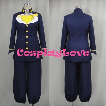 Newest Custom Made Japanese Anime JoJo's Bizarre Adventure Higashikata Josuke Cosplay Costume Christmas Halloween Party Birthday