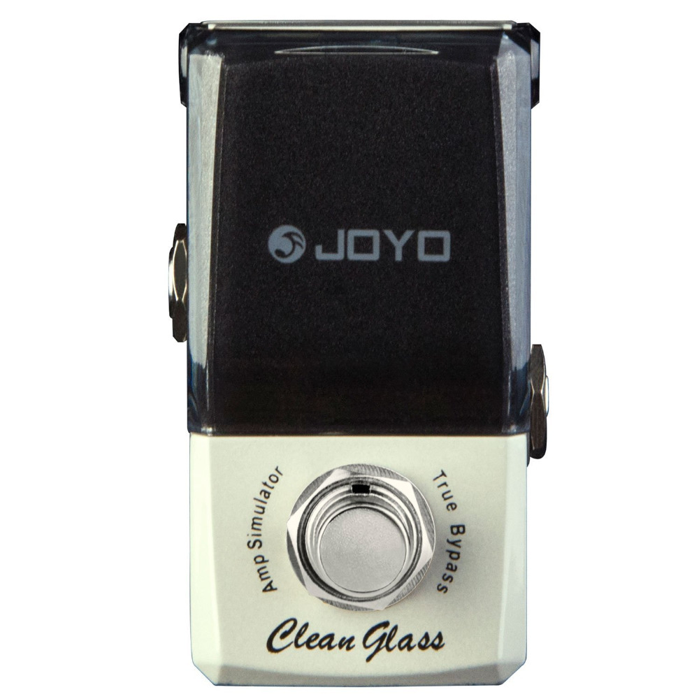 JOYO JF-307 Clean Glass Amp Simulator Mini Electric Guitar Effect Pedal with Knob Guard True Bypass joyo rushing train amp simulator electric guitar effect pedal classic liverpool sounds true bypass jf 306 with free 3m cable