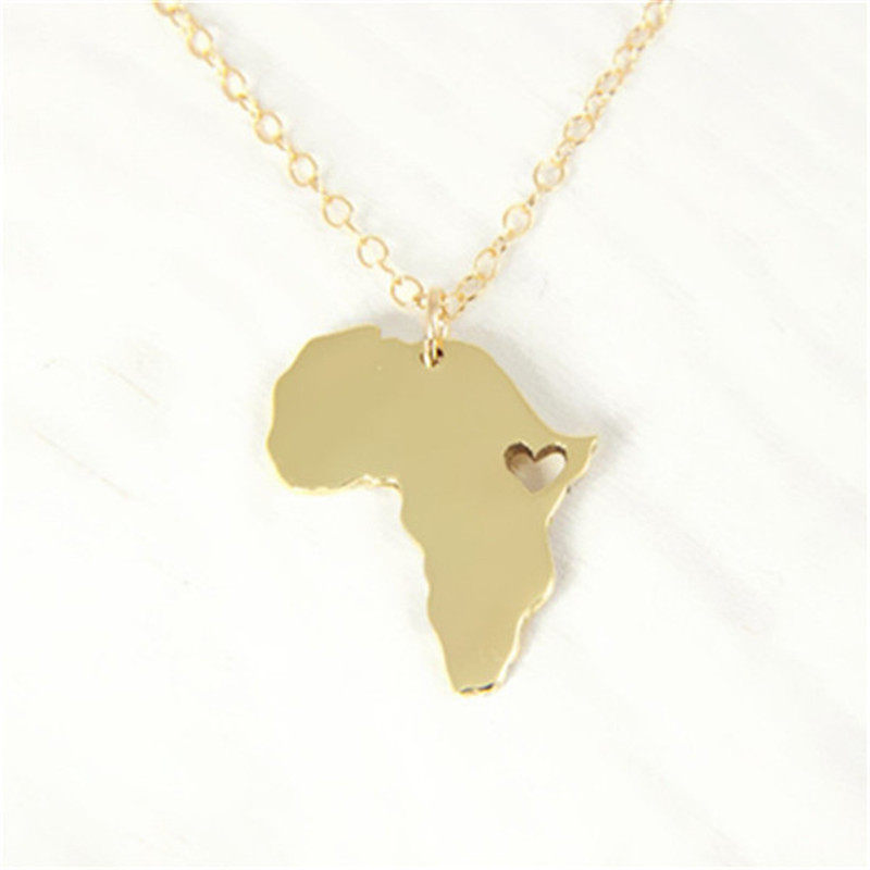 africa map outline pendant