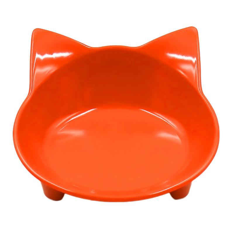 Автомобильная чаша, 8 цветов, кошачья форма, посуда для домашних питомцев, миска для домашних питомцев, кормушка для кошек и собак, посуда для маленьких собак, миска для воды, аксессуары для домашних животных - Цвет: Orange