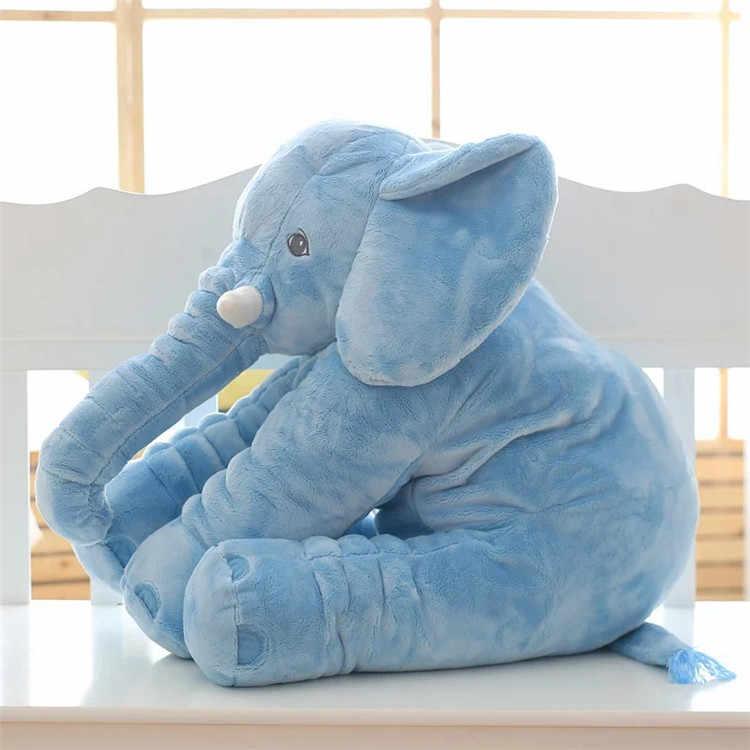 Karikatür Büyük Boy Peluş Fil Oyuncak Çocuklar Uyku Geri Yastık dolgu yastık hayvan Bebek Bebek Bebek doğum günü hediyesi çocuklar için