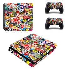 Graffiti PS4 Slim Skin Sticker for Sony PS4 PlayStation 4 Slim Console System and 2 controller skins