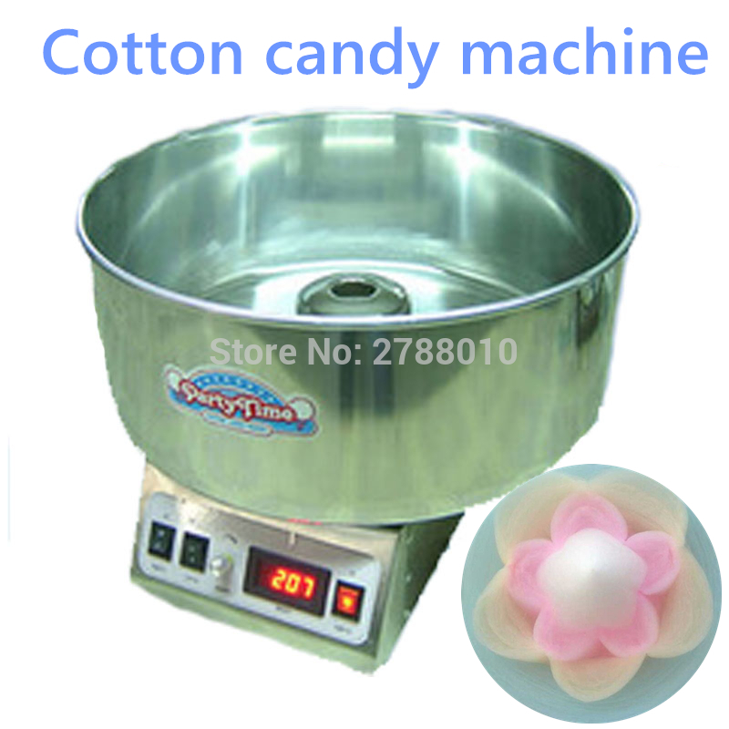 110V/ 220V Cotton Candy Floss Machine Commercial Candy Floss Maker Electric Cotton Machine Stainless Steel CC-3803H 10oz stainless steel 110v 220v electric commercial popcorn machine with temperature control