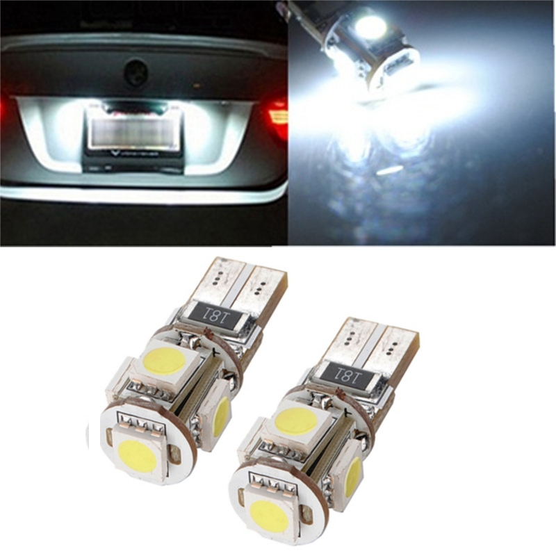 Hot Sale T10 194 168 W5W 5 LED 5050 SMD White Car Auto Side Wedge Light Lamp Bulb DC12V Car Light Source 4x canbus error free t10 194 168 w5w 5050 led 6 smd white side wedge light bulb