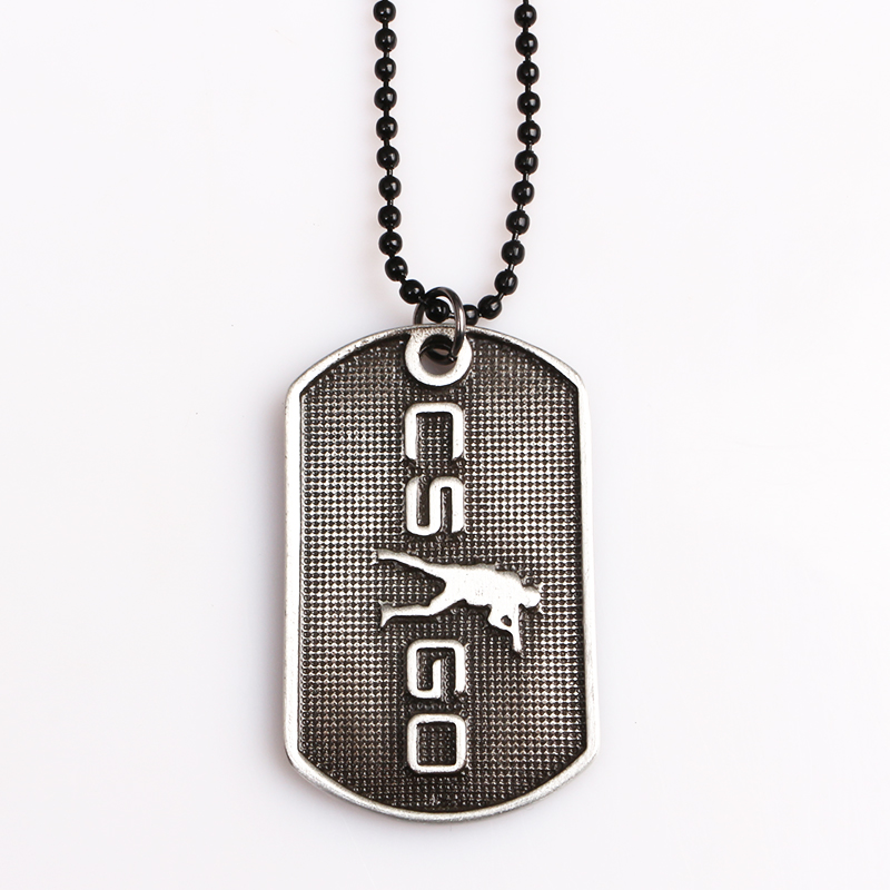 New Game CSGO Engraving Letter CSGO Tag necklace Counter-Strike elite global offensive T / CT camp Necklace For Man Jewelry ...