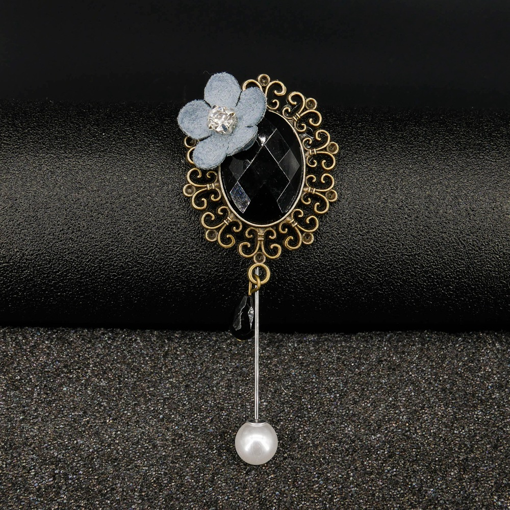 New retro style black meteorite Metal alloy brooch Women 39 s dripping brooch jewelry accessories Party gift For women in Brooches from Jewelry amp Accessories