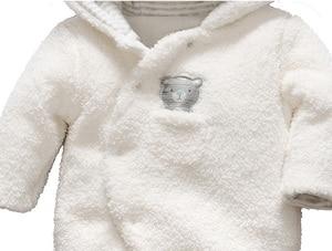 Image 4 - Gara I Bambini Appena Nati vestiti del bambino dellorso del bambino della ragazza del ragazzo pagliaccetti con cappuccio felpa della tuta di inverno tuta per i bambini roupa menina
