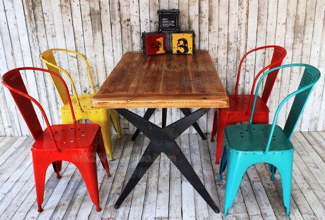 Retro nostalgie farbige eisen stuhl barhocker vintage französisch