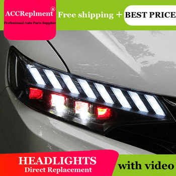 Auto Lighting Style LED Head Lamp for honda fit led headlights 2014-2019 signal angel eye drl H7 hid Bi-Xenon Lens low beam