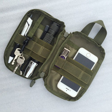 1000D Nylon Tactical Bag Outdoor Molle Military Waist Fanny Pack Mobile Phone Case Key Mini Tools Pouch Sport Bag W2