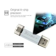 USB flash drive 64GB Metal Pen Drive 32GB 16GB for Phones