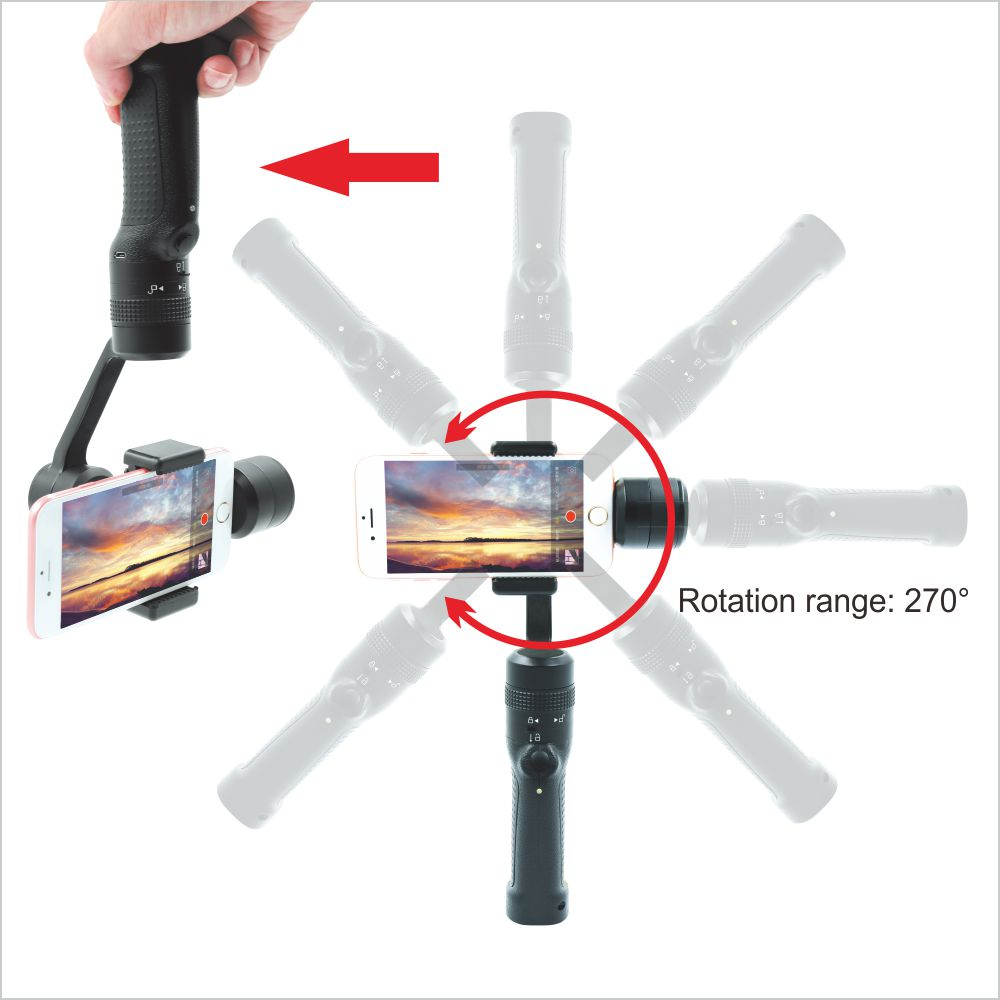 3 Axis Handheld Gimbal Stabilizer Multi Operation Modes For Smartphone Iphone Xiaomi Huawei Samsung