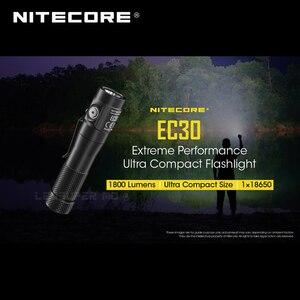 Image 1 - 1800 Lumens Nitecore EC30 CREE XHP35 HD LED Extreme Performance Ultra Compact Flashlight