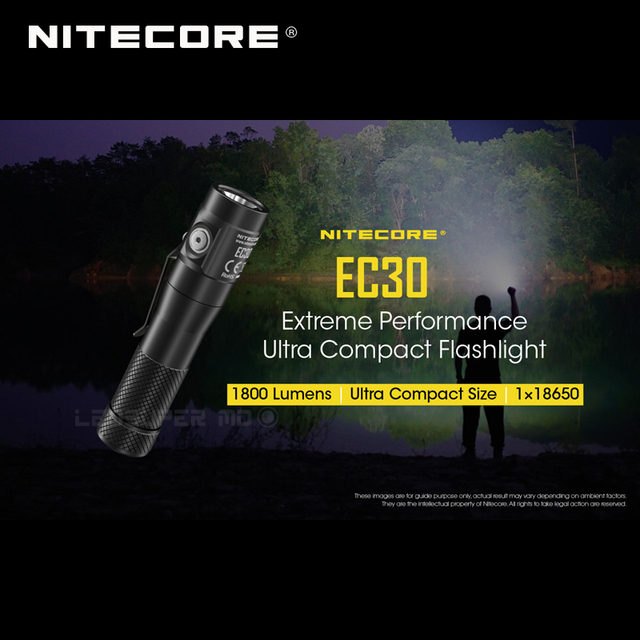 1800 Lumens Nitecore EC30 CREE XHP35 HD LED Extreme Performance Ultra Compact Flashlight