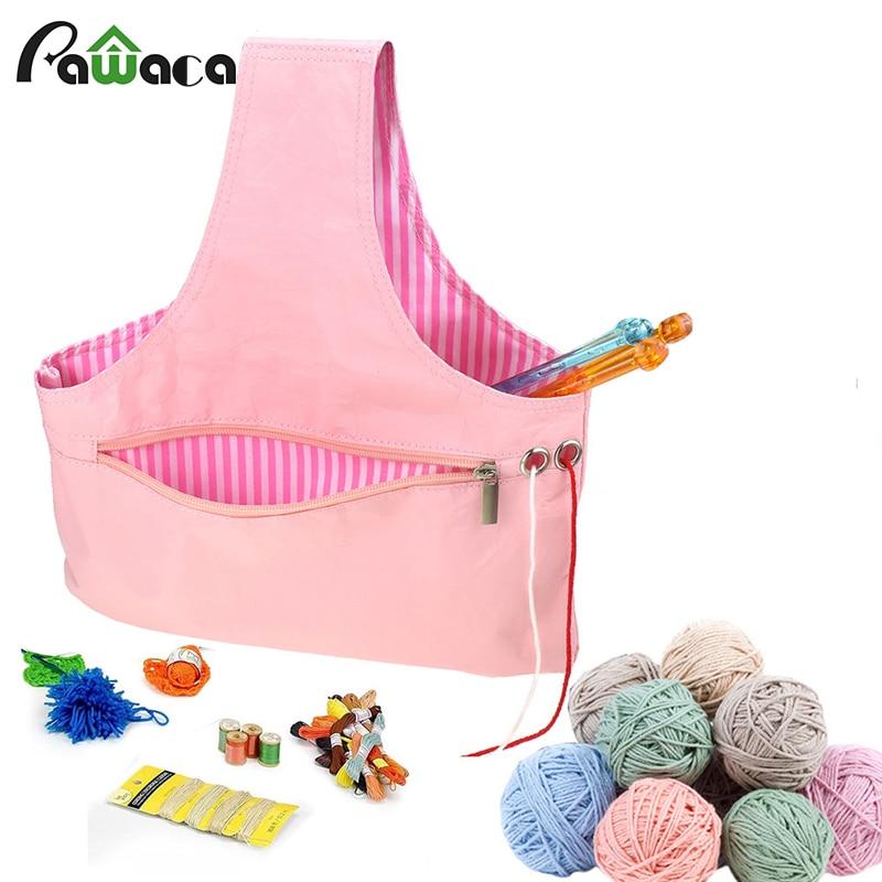 Sewing Tools Yarn Bag 1 x Yarn Crochet Thread Storage Knitting Organizer Tote