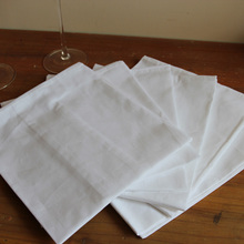 Hotel West restaurant glass table white napkin red wine wiping cup cloth cotton