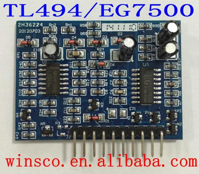 100% NEW EG TL494  7500 inverter boost driver board EG7500  5PCSLOT FREE SHIPPING