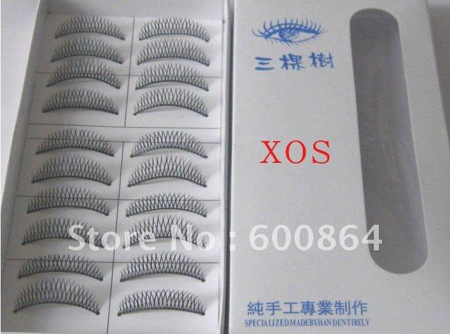 HOT 50pairs XOS# Fashion Eyelashes eyelash extension False Eyelashes Fake Eyelashes artificial eyelash Hand made Eye lash
