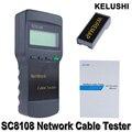 KELUSHI Sc8108 Multifunções Portátil Sem Fio LCD Digital De Dados do PC CAT5 RJ45 LAN Telefone Rede Cable Tester Medidor de Medidor de Comprimento