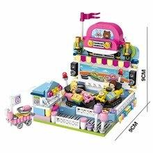 432pcs Girls Blocks Compatible Legoingly Friends Amusement Park Bumper Car Figure Model Building