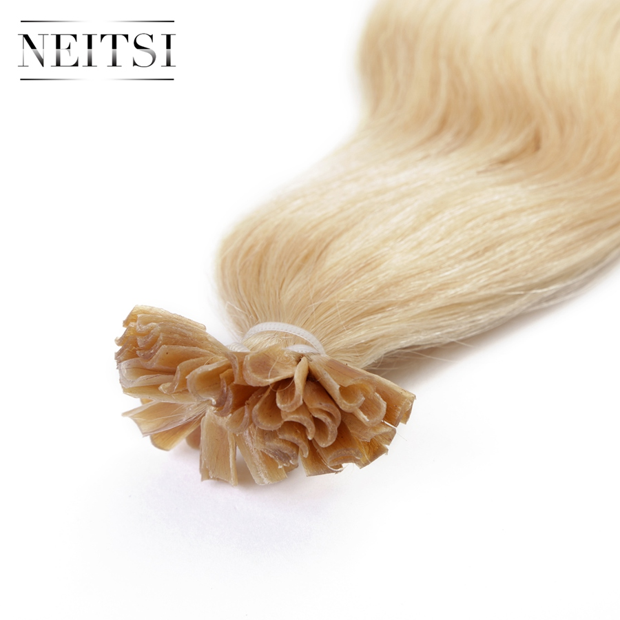 Neitsi Wellenförmige Indische Menschliche Fusion Haar U Nagelspitze - Menschenhaar (für Weiß) - Foto 3