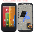For Motorola MOTO G XT1032 / XT1033 LCD Display touch Screen Digitizer Frame Assembly + Tools, Black Free shipping
