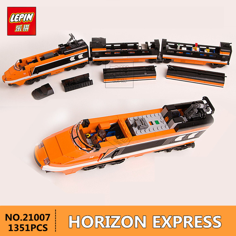 in-Stock New Lepin 21007 1351Pcs Out of print, the sky train Model Building Kits Blocks Bricks Toys Compatible With 10233 new lepin 22001 in stock pirate ship imperial warships model building kits block briks toys gift 1717pcs compatible legoed 10210