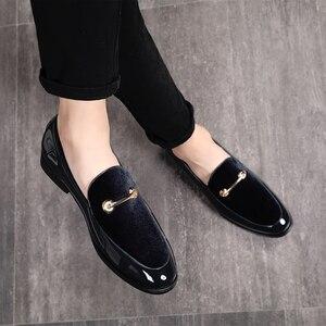 Image 3 - M anxiu chaussures Oxford en cuir verni pour hommes, chaussures habillées à bout pointu, mocassins pour mariages formels, collection 2020