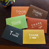 48 ピース/ロットカラフルな封筒ビジネスであなたのカードに感謝あなたのカードに感謝感謝祭のグリーティングカードポストカード
