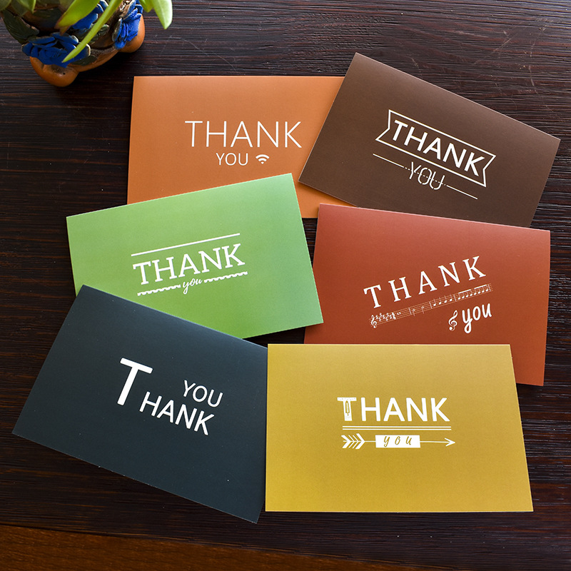 48pcs Lot Colorful Thank You Cards With