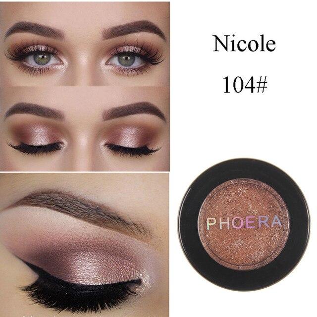 Moda de maquillaje sombra de ojos suave brillo brillante colores sombra de ojos metálico cosméticos para todo tipo de piel Envío Directo