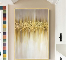 Large size handmade Oil Painting Modern painting art Abstract golden Trees canvas for home decor wall pictures