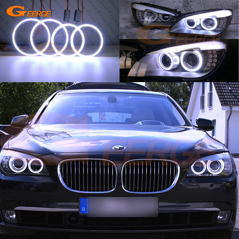 For BMW F01 F02 F03 F04 730d 740d 740i 750i 760i 2008-2012 Excellent angel eyes Ultra bright illumination COB led angel eyes kit 01 2012
