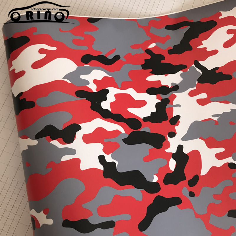 100% Quality 50cmx300cm Matte Black White Red Camouflage Vinyl Scooter Car Motorcycle Wrap Camo Film Sheet Diy Styling Graphic Sticker Special Buy