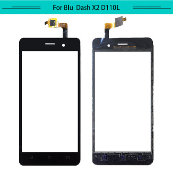 Tested 20pcs/lot For BLU Dash X2 D110 D110L D110U Touch Screen Glass Digitizer Touch Panel Free Shipping