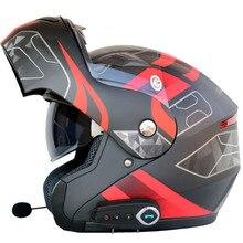 Flip-up moto rcycle casco uomo donna doppia visiera con interno di sole scudo moto caschi casco auricolare Bluetooth con FM radio